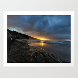 Sunset at Cape Lookout Art Print