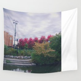 Fall in Chicago Wall Tapestry