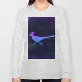 ROADRUNNER IN SPACE // Animal Graphic Art // Watercolor Canvas Painting // Modern Minimal Cute Long Sleeve T-shirt