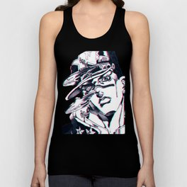 Jotaro Kujo from Jojo's bizarre adventure affected by Whitesnake Unisex Tank Top