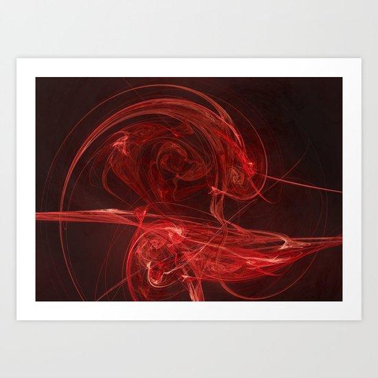 Roses R Red Art Print