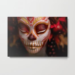 Crimson Harvest Muertita Detail Metal Print