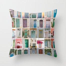 Travel Door Collection Throw Pillow