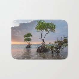 Mangrove Trees On The Beach At Sunset Bath Mat
