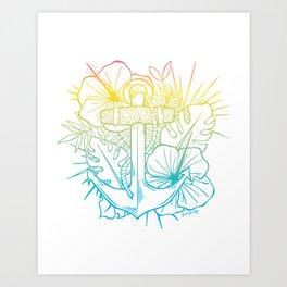 Sunrise Hawaiian Anchor Art Print