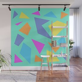 Mint Shapes Wall Mural