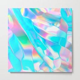 Blue Opal Iridescent  Metal Print