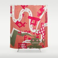 robot Shower Curtains featuring Robot by Jan Luzar
