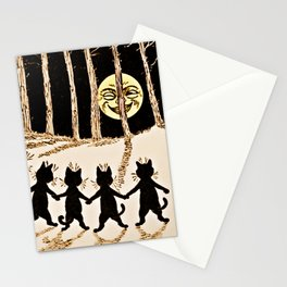 Cats & a Full Moon-Louis Wain Black Cats Stationery Cards