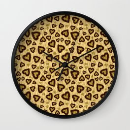 Leopard Heart 01 Wall Clock
