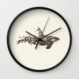 Fractured Killer Whale Wall Clock