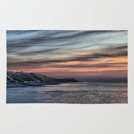 Sunset on Cromer Cliffs Rug