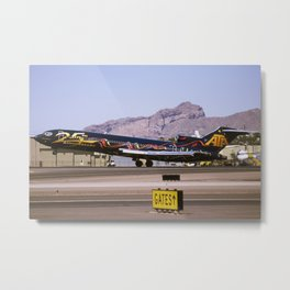 "American Trans Air (ATA) 727-200 ""25th Anniversary"" Metal Print"