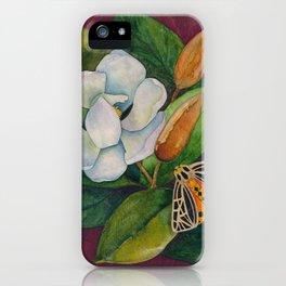 Magnolia & Moth iPhone Case