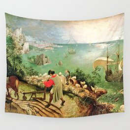 Landscape With The Fall Of Icarus Painting Pieter Bruegel The Elder Wall Tapestry