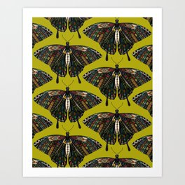 swallowtail butterfly citron Art Print