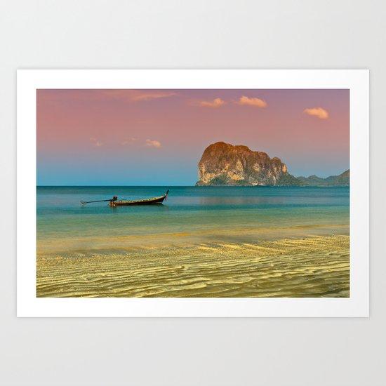 Trang Longboat Art Print