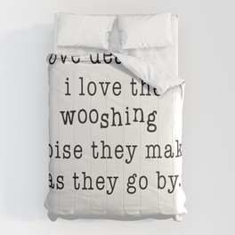 I Love Deadlines, Douglas Adams (White) Comforters