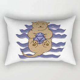 Otter Holding d20 Rectangular Pillow