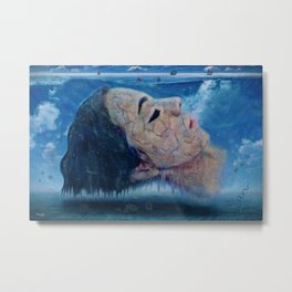 Ice cold water Metal Print