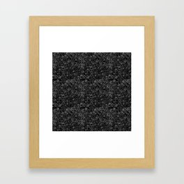 Crazy monsters in a crowd pattern Framed Art Print