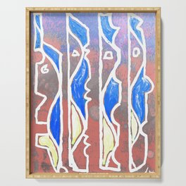 PEOPLE - Abstract cubist Serving Tray