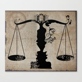 Weigh your Justice  Canvas Print