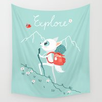 explore Wall Tapestries featuring Explore by Freeminds