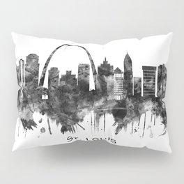 St. Louis Missouri Skyline BW Pillow Sham