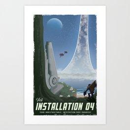 Installation 04 (Halo) Travel Poster Art Print