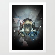 Pyramid skulls Art Print