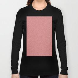 Dense Melange - White and Firebrick Red Long Sleeve T-shirt