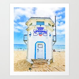 Laguna Beach Lifeguard Stand Art Print