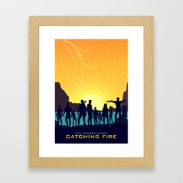 Catching Fire (Sunset Version) Framed Art Print