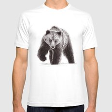 Bear Mens Fitted Tee White MEDIUM