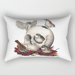 White-throated Sparrows Forage Amongst Human Remains Rectangular Pillow