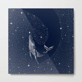 starry whale Metal Print