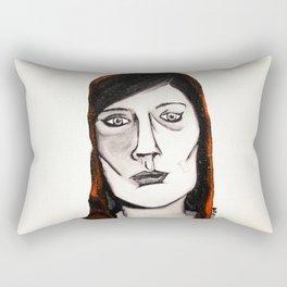 Little Red by D. Porter Rectangular Pillow
