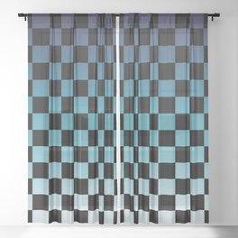 Chessboard Gradient III Sheer Curtain
