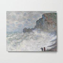 Rough weather at Etretat by Claude Monet, 1883 Metal Print