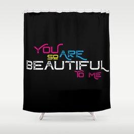 Beautiful CMYK Shower Curtain