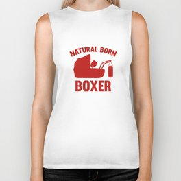 Natural Born Boxer Biker Tank