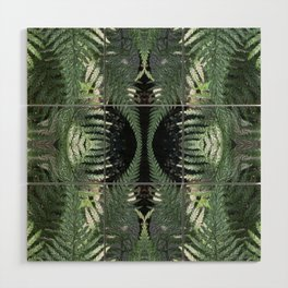 Bronx Botanical Garden Green Ferns Wood Wall Art