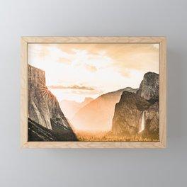 Yosemite Valley Burn - Sunrise Framed Mini Art Print