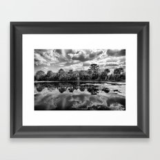 Green Cay Wetlands in Black and White Framed Art Print