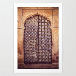 Doors Of Rajasthan 4 Art Print