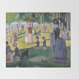 A Sunday on La Grande Jatte by Georges Seurat, 1884 Throw Blanket
