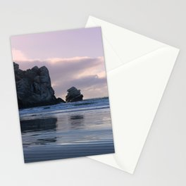 Morro Rock Beach Sunset Pink Stationery Cards