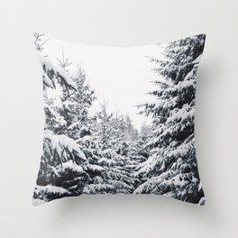 SNOWFOREST Throw Pillow