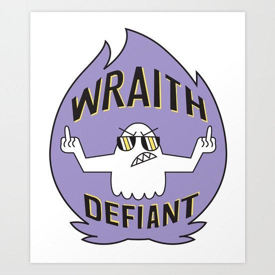 Wraith Defiant decal Art Print